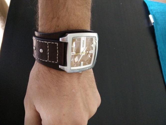 fossil watch for sale - men's leather cuff R950