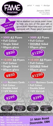 Full Colour Flyers 5000 @ R 850