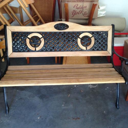 Awesome Garden Bench Wood And Cast Iron For Sale In Diep River Bralicious Painted Fabric Chair Ideas Braliciousco