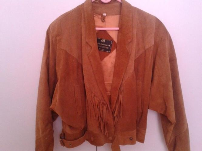 Genuine Leather Jacket For Sale with tassels.