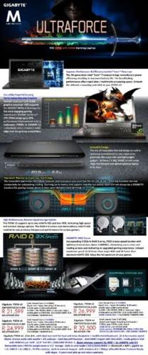 Gigabyte Ultraforce P35W V3 Series i7 Gaming Laptops |