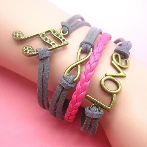 gorgeous infinity bracelets