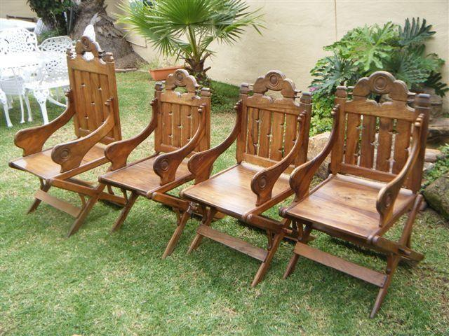 Hand Carved Wooden Chairs