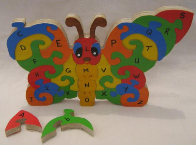 hand made wooden puzzles and toys
