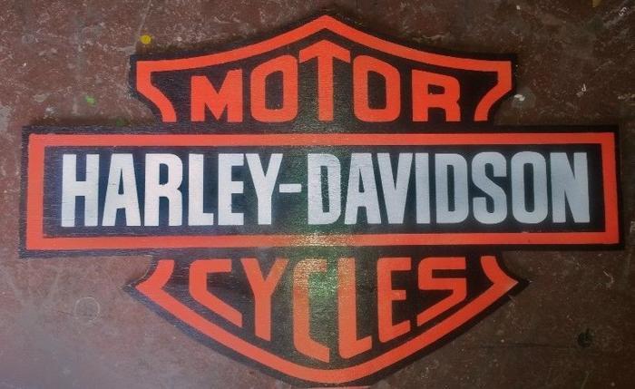 Harley-Davidson Extra Large Wooden Plaque. AL0055