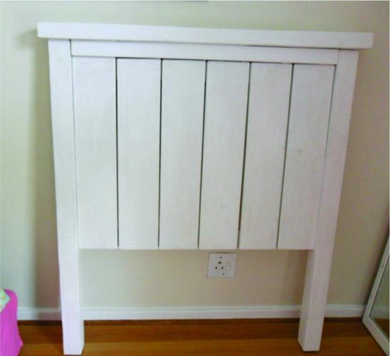 Heavy white solid headboard - 3/4 or single bed - R500