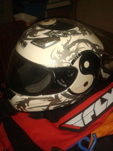 Helmets leathers and shirts