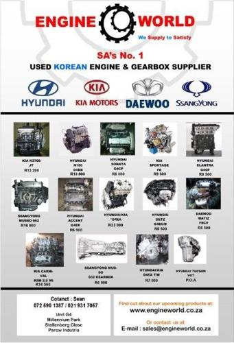 Hyundai H100 2 6D D4BB Gearbox[used/imported] for Sale in Boksburg