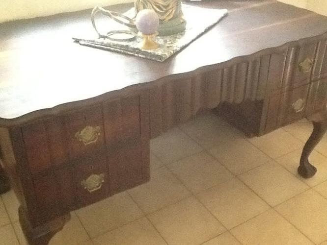 IMBUIA VINTAGE DESK much loved and in good condition