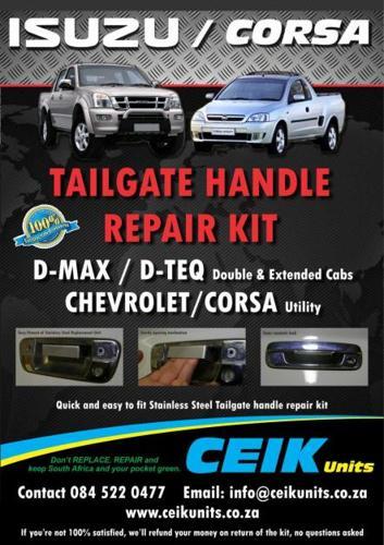 Isuzu and Corsa Tailgate handle Upgrade/Repair kit