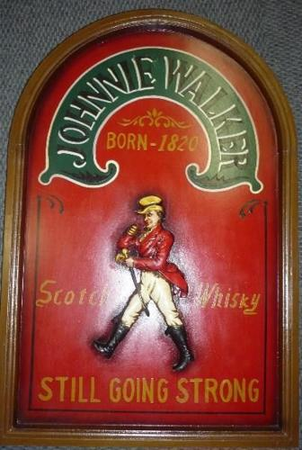 Johnny Walker Plaque