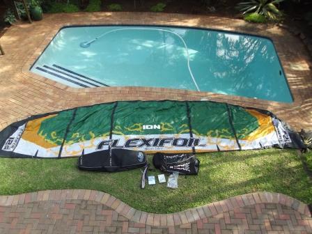 kite surfing set up