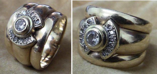 Ladies 9ct Yellowgold, 3 band Wedding ring - price