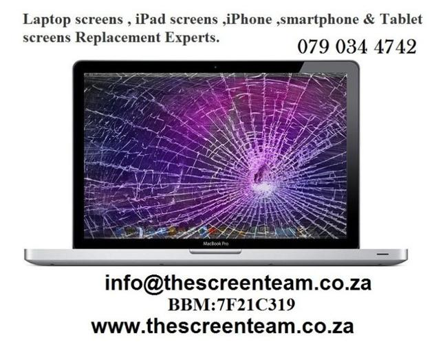 Laptop screens , iPad screens ,iPhone Repair & Tablet