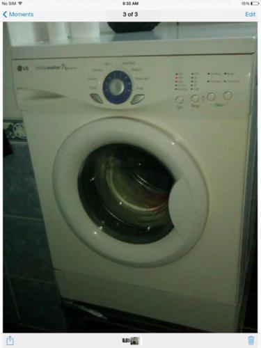 LG 7.2 Kg front loader washing machine for sale