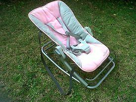 Lovely vibrating Maclaren bouncer for sale has carry