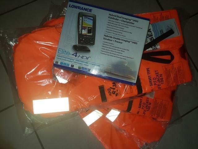 Lowrance elite 4hdi+ transducer + 4 Samsa approved 100