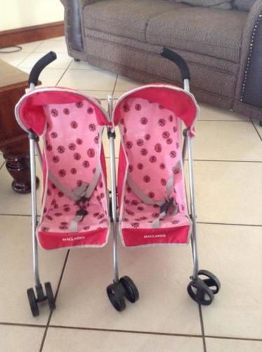 Maclaren twin doll stroller