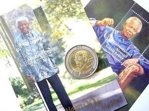 MANDELA 90TH BIRTHDAY COINS AND STAMPS