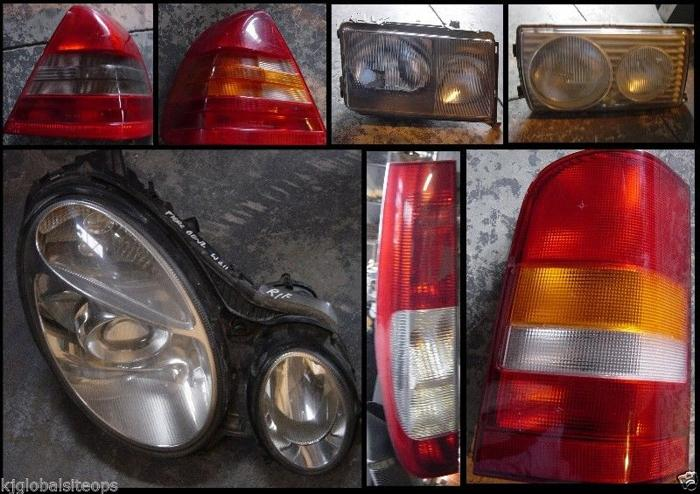 Mercedes Headlights and taillights for sale