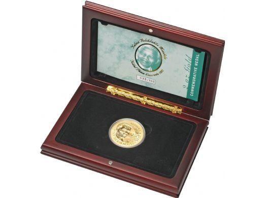 Nelson Mandela Gold Birthday Medallion, 2oz. Very rare,