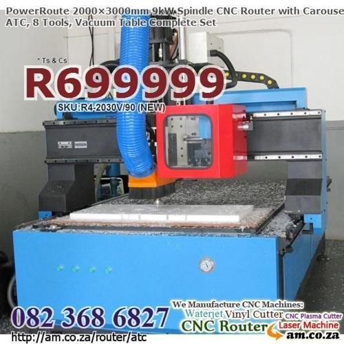 NEW From Factory,CNC Router with Rotary ATC 8Tool,9kW