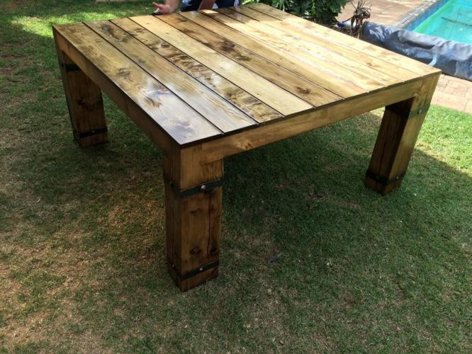 New table rustic 8 and 12 seat for sale in benoni gauteng for 12 seater dining table south africa