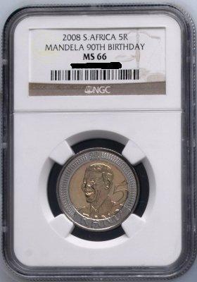 NGC GRADED UNCIRCULATED MANDELA 90th BIRTHDAY COINS
