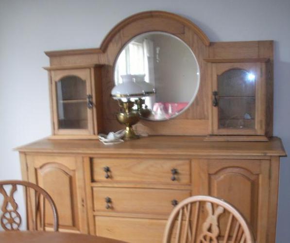 Oak Sideboard, Oak Table with 4 Chairs, Roll Top Desk,