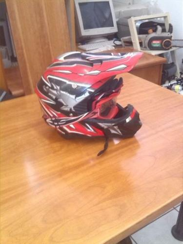 Off Road helmet and gloves