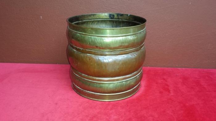 Old brass and copper planter.