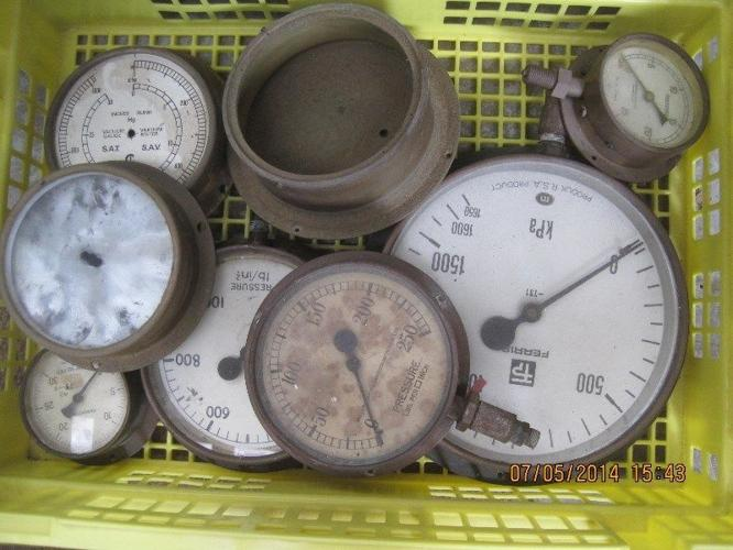Old Brass pressure gauges