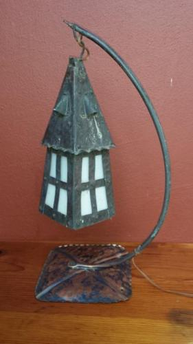 Old copper lamp.