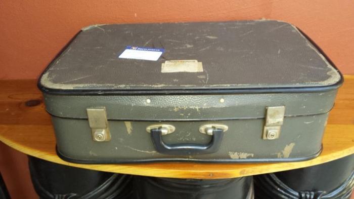 Old medium grey suitcase