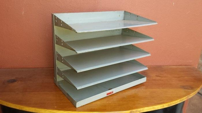 Old metal filing rack.