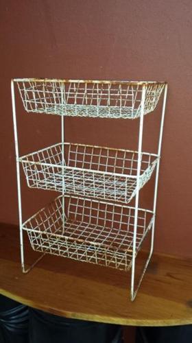 Old metal veggie rack