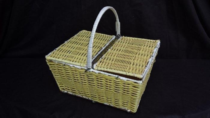 Old plastic basket.