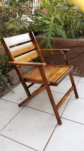 Old wooden deck chair