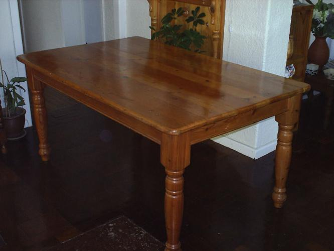 Oregon Pine 6 8 Seater Diningroom Table