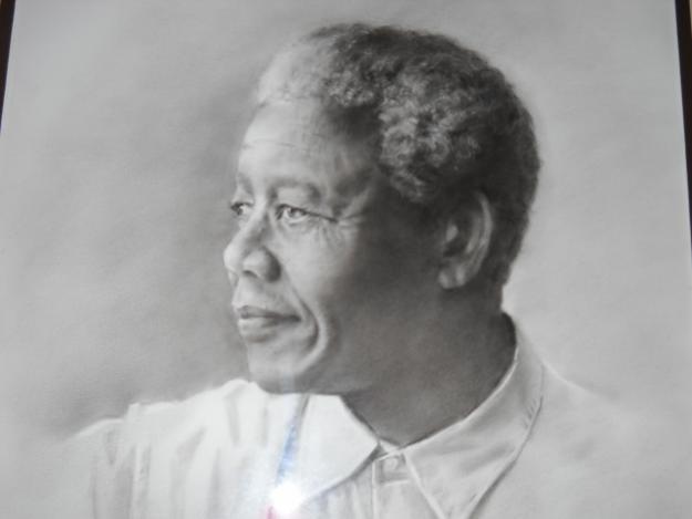 Original Painting of Nelson Mandela