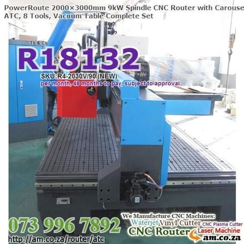 Our 9kW 2000×3000mm CNC Router w.Tool Change give You