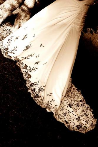 patterned white wedding dress for sale