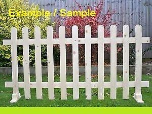 Picket Fences from 0.5m x 0.3m to 1.0m x 1.0m