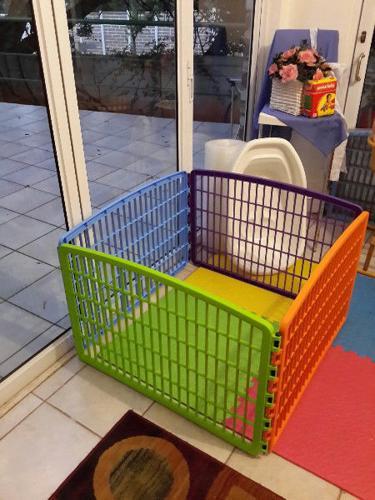 Plastic doggy playpens