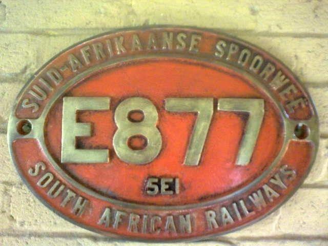 Railway Train Plaques. AL0053
