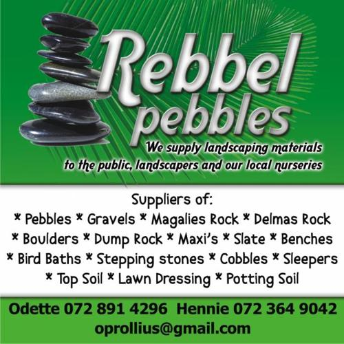 Rebbel pebbles pebbles gravel dump rock for sale for for Landscaping rocks for sale johannesburg