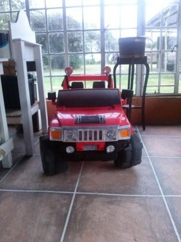 Red kids Hummer 12volt 4 gears include high range and