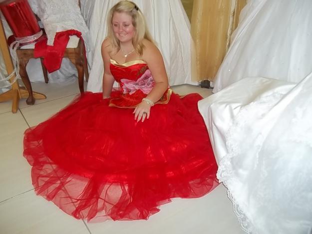 Red Matric Farewell Dress
