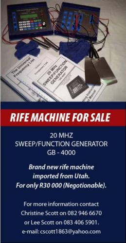 rife machine for sale south africa