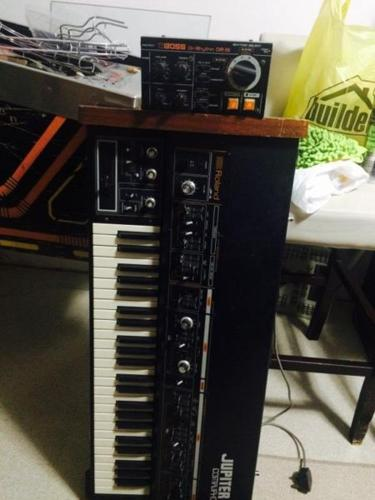 Roland Jupiter 4 synthesizer and dr55 drum machine for Sale